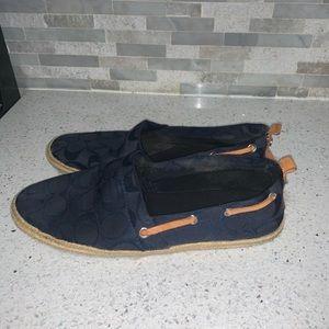 Coach espadrilles navy blue size 7